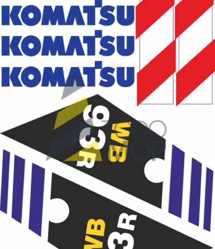 JUEGOS PEGATINAS KOMATSU WB93R